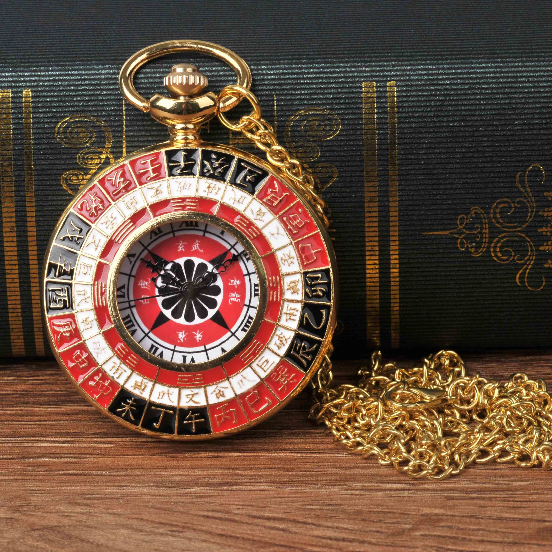 8844Large Pocket Watch Color Gossip China Time Scale Pocket Watch