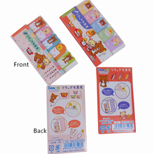 1pack/lot Students Funny Easy Bear Five Row Of Notes Memo Pad Sticky Post It To Do List For School
