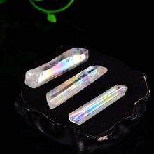 Cristaux bruts en cristal naturel, 2 pièces, Collection de Quartz coloré, décoration pour la maison, pierre de guérison