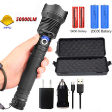 new 5000LM XHP70.2 & XHP50 rechargeable powerful tactical led flashlight torch light Lamp Power 18650 26650 Battery wholesell