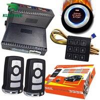 KUNFINE Smart Security Car Alarm Passive Keyless Entry Auto Central Lock Push Button Car Engine Start Stop Compatiable 1100BN
