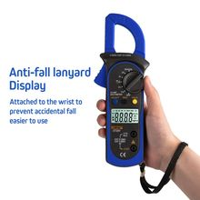 Digital Clamp Multimeter True RMS LCD Auto Range Ohm DC AC Voltmeter Ammeter Capacitance Resistance Data Hold Tester frequency electrical tester diode detector digital handheld multimeter auto range protection ac dc ammeter voltmeter ohm