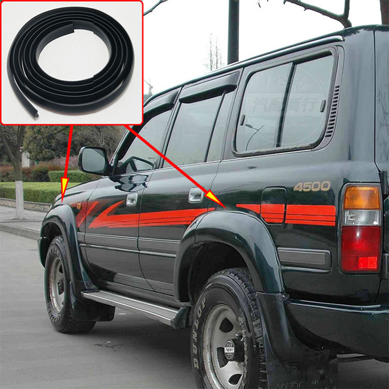 1 5M For Toyota Land Cruiser LC80 HZJ80 FZJ80 4500 1991-1997 Fender Flares Wheel Arches Wide body rubber beading rubber lining