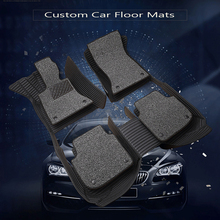 цена на Custom fit car floor mats for nissan altima Rouge X-trail Murano Sentra Sylphy versa Tiida 3D car-styling carpet floor liner