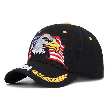 цена на Embroidered Baseball Caps American Flag Duck Tongue Cap Sunshade All Cotton Usa Curved Corner Camouflage