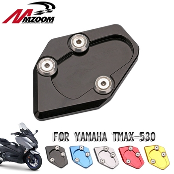 motorcycle side stand enlarger cnc kickstand side stand extension enlarger pate pad For Yamaha TMAX 530 12-16 tmax530 2015-2016 image