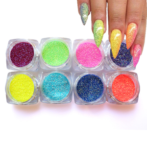 Holographic Nail Glitter Sequins Neon Color Sugar Dust Powder Sparkly Flakes Art Decorations For Manicure Nails Accessories