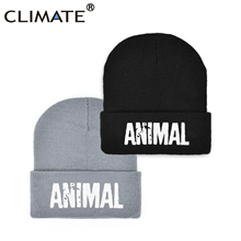 Animal Beanie Cool-Hat Winter Hat CLIMATE Men's GYM for Fitness Warm Logo Man