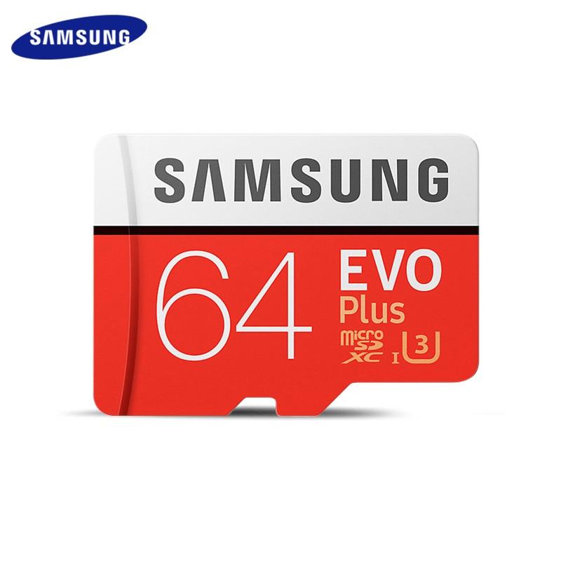 Original SAMSUNG Grade EVO+ Class 10 Memory Card 256GB 128GB 64GB 32GB Micro SD Card SDHC SDXC Class 10 UHS TF Card Trans Flash