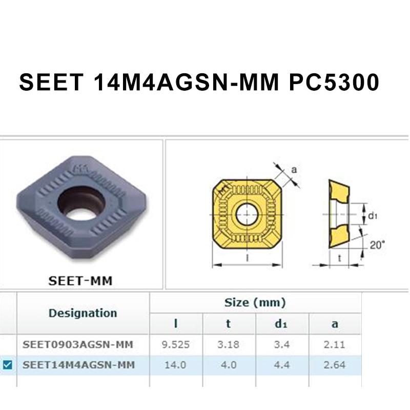 10PCS SEET14M4AGSN MMPC5300 CNC Oringinal Carbide Milling Inserts Lathe Tools