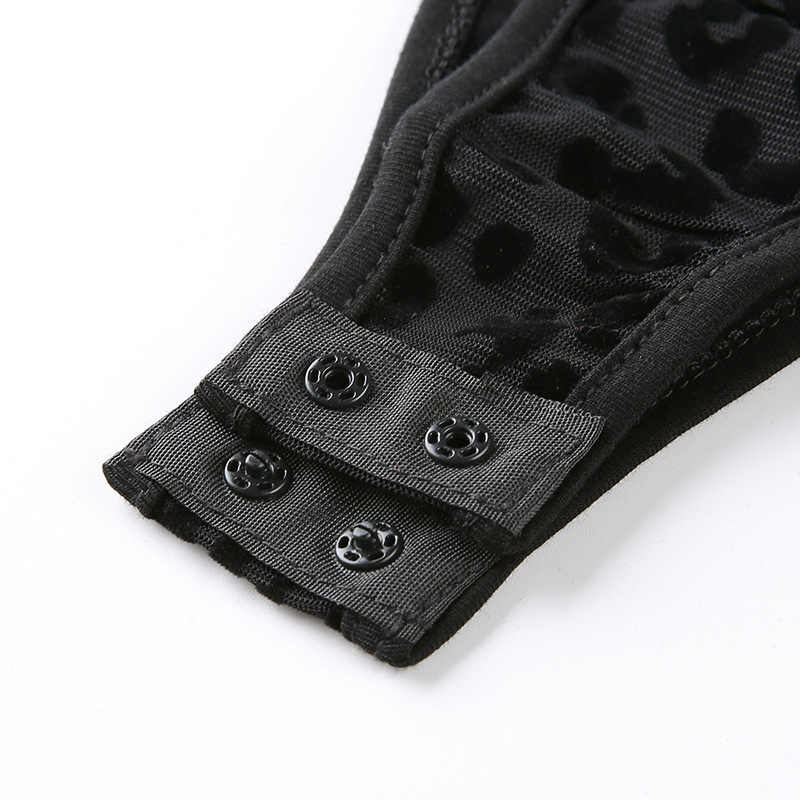 Forefair без рукавов леопардовое кружевное Боди женские Топы прозрачные Клубные с открытыми плечами, без бретелек прозрачные черные сетчатые сексуальные боди