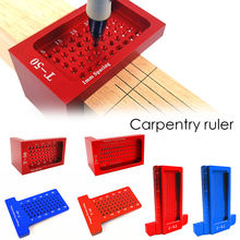 3 Size Portable hole ruler T-Type Ruler Square Woodworking Ruler Scribe Mark Line Gauge 3d mitre angle measuring ruler scribe mark line gauge carpenter ruler square layout miter 45 and 90 degrees woodworking scribe