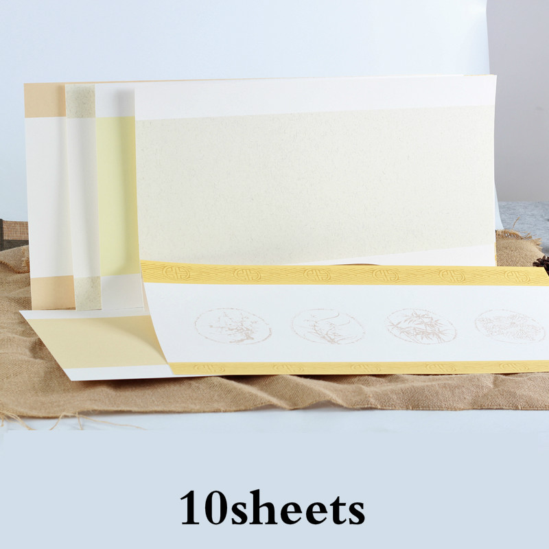 Raw Soft Xuan Paper Card Chinese Rice Paper Cards Calligraphy Watercolor Painting Mounting Xuan Paper Cards Carta Di Riso