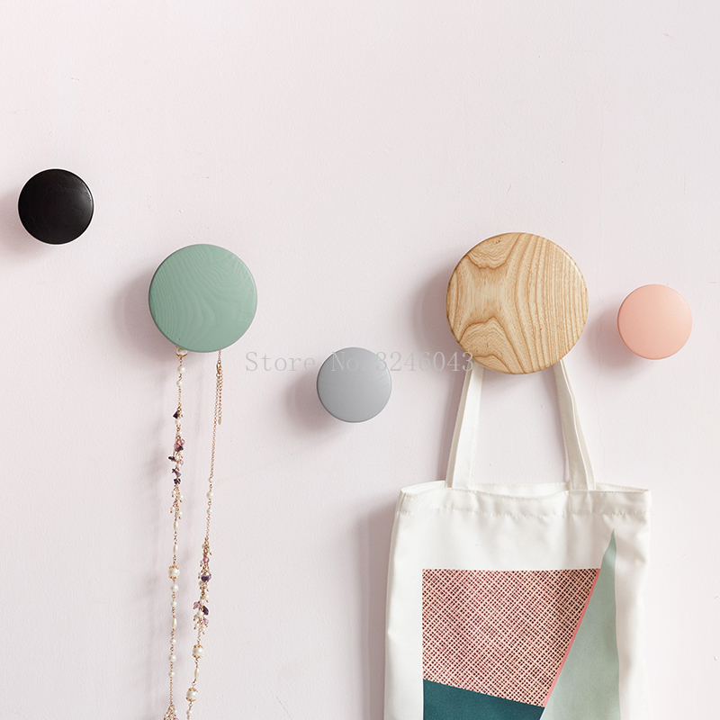 Hanging Wooden Hooks On The Wall Wooden Hanger Garden Round Mushroom Hook Wall Hanger Wood Clothes Hook Beautiful Home Decor