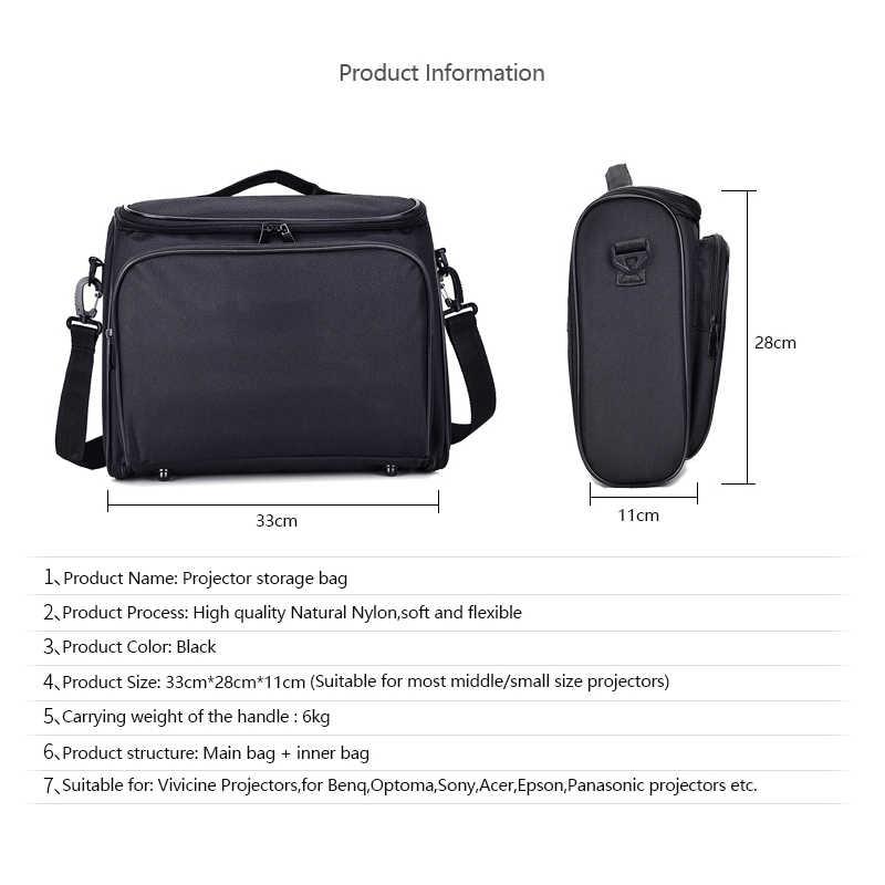 Vivicine projetor saco de armazenamento para v100 v200 v300 e500 t8 v600 suporte a maioria do projetor led multi-função saco preto
