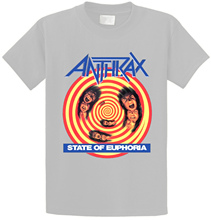 Best T Shirt Sites MenS Anthrax State Of Euphoria O-Neck Cotton Short Sleeve Shirts