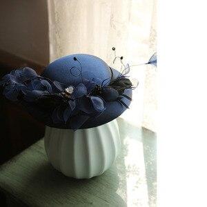 Mingli Tengda невесты Чистая Пряжа головные уборы украшения волос вуаль маленькая формальная шляпа женские Свадебные шляпы и вуалетки аксессуар...