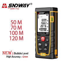SNDWAY Trena Laser Distance Meter Laser Meter Tools Portable Range Finder Metro Laser Device Ruler Test Telemetro Measuring Tape(China)
