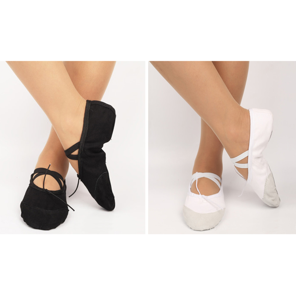 Dance Shoes Girls Canvas Split Sole Ballet Dance Fitness Shoes Canvas Gymnastics Ballet Shoes PCS Shoes For Girls