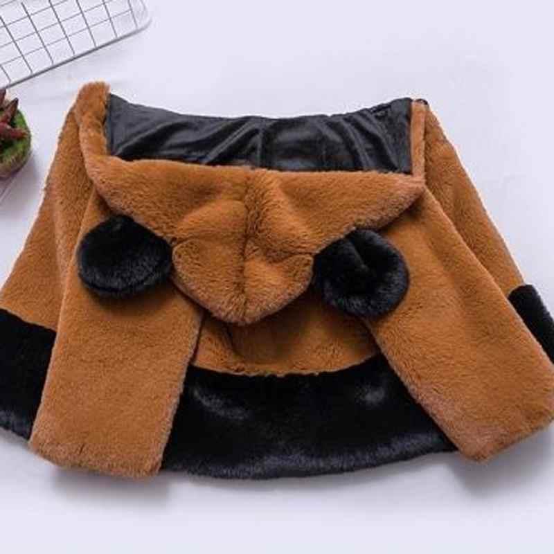 2019 חדש אופנה חורף ילדים בנות פו מינק פרווה מעילי תינוק פעוט ילדה מעיל תינוק עבה חם סלעית בגדי הלבשה עליונה w191
