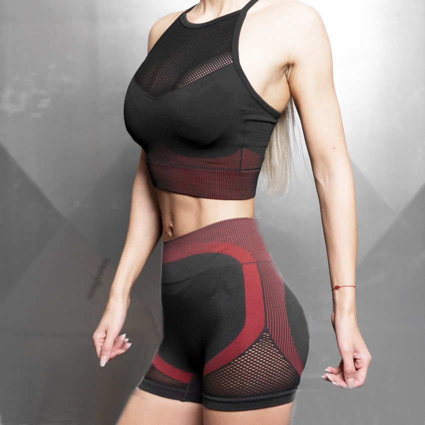 2 Piece Workout Clothes Women Gym Set Seamless Shorts Sport Women Fitness Yoga Set Active Wear Gym Clothing Tracksuit