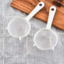 Кухонный ручной пластиковый сетчатый сито для чая муки многоразовый