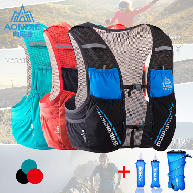 AONIJIE Hydration Pack Backpack Rucksack Bag Vest Harness Water Bladder Hiking Camping Running Marathon Race Climbing 5L C933