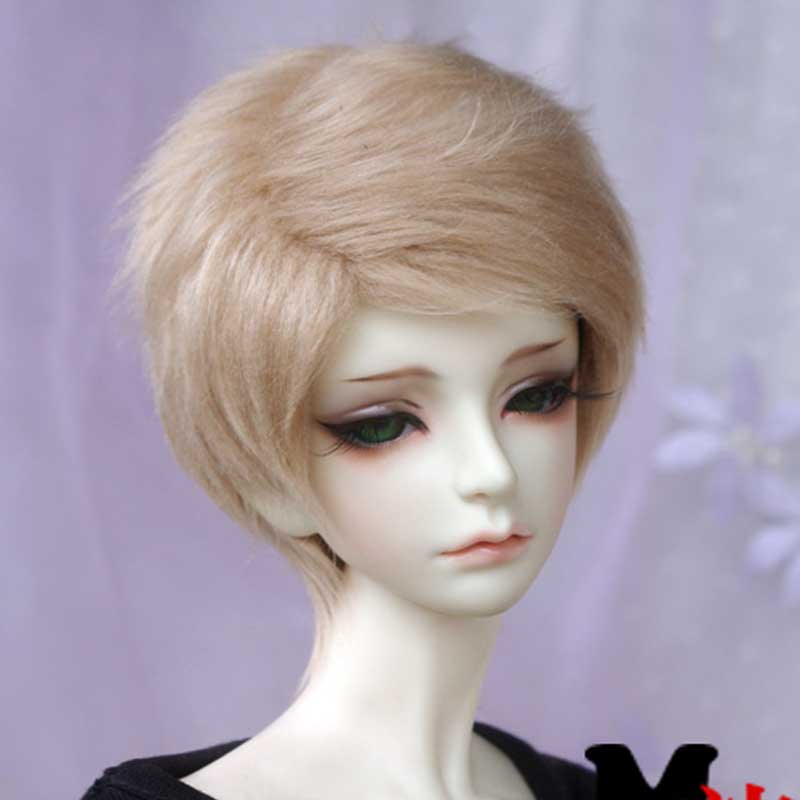 1PCS Doll Accessories 1/3 1/4 1/6 Short Black Wig For BJD Doll