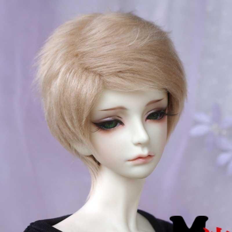 1PCS Doll Accessories 1/3 1/4 1/6 Short Black Wig For BJD Doll