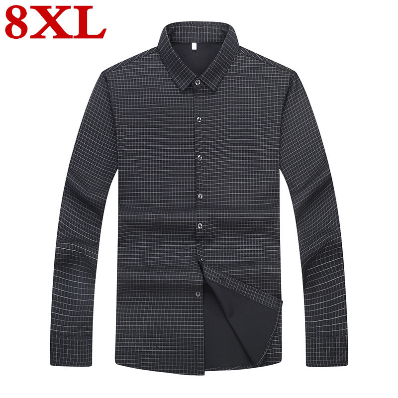 Plus Size 8XL 7XL 6XL  New Arrival Mens Casual  Shirts Men Long Sleeve Fashion  Formal Dress Shirt Male Brand Clothing Loose Fit
