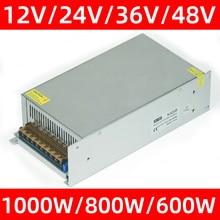 Switching Power Supply 1000W 800W 600W AC 220V TO DC 48V 36V 24V 12V Power Supply Source Transformer AC DC SMPS Uninterruptibl