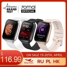 Primero 70mai Saphir reloj 2020 70mai Smartwatch Bluetooth GPS Monitor de ritmo cardíaco de deporte 5ATM recordatorio de llamada 70mai APP de notificación