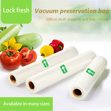 цена на 3/4/5/6 Rolls Food Preservation Vacuum Sealer Rolls Storage Bags For Food Fresh Long Keeping Saver Bag 12 15 20 25 28 30*500cm