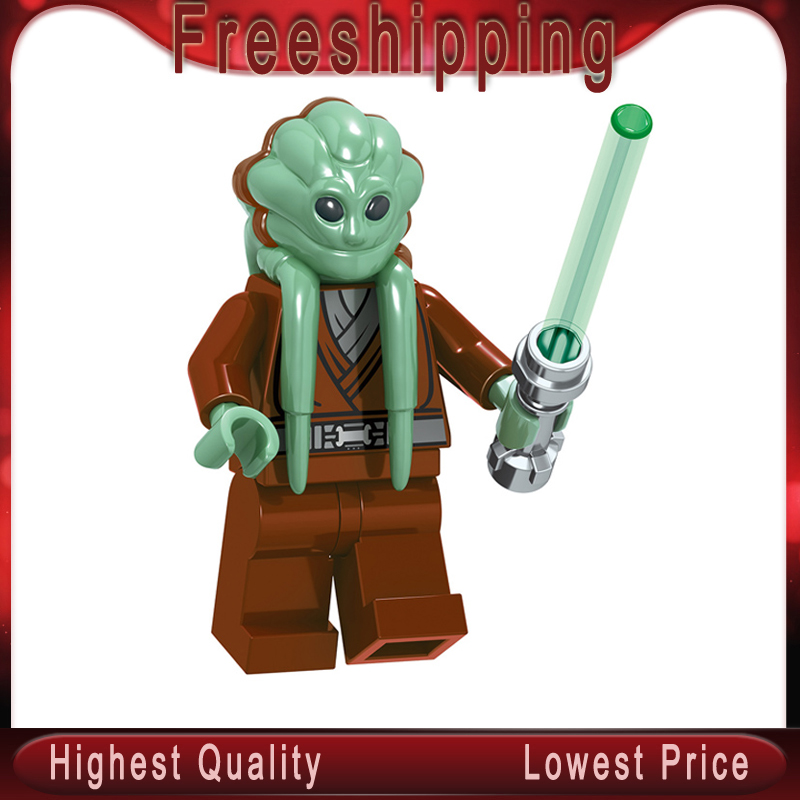 Kit Fisto Star Wars Building Blocks Space Obi-Wan Kenobi Emperor'S Royal Guard Darth Vader Figures Children Toys Gifts C028