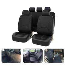 Universal Styling Full Set PU Leather Faux Leather Interior Accessories Automobile Protector Car Seat Cover kkysyelva front rear pu leather auto universal car seat covers automobile seat cover car seat cushion set interior accessories