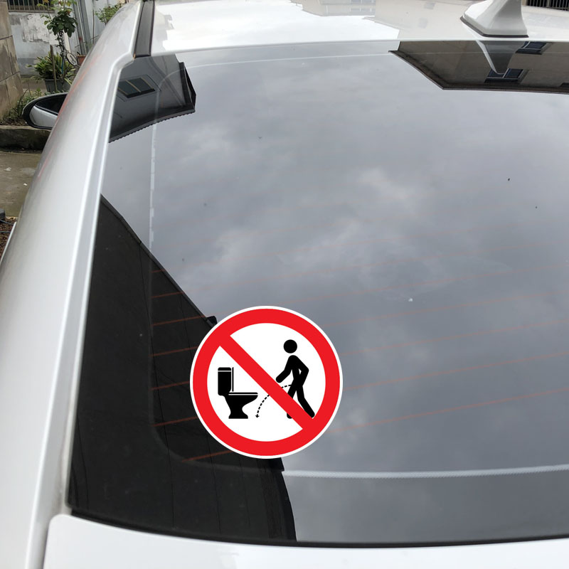 Image 5 - YJZT 11.5CM*11.5CM Warning NO Hit The Toilet Car Sticker PVC Decal 12 1469-in Car Stickers from Automobiles & Motorcycles