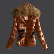 KANCOOLD coats Women Outwear Quilted Winter Warm Fur Collar Hooded Jacket Tops With Belt new coats and jackets women 2019Sep27(China)