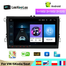 LeeKooLuu 2Din radio Car Android 8.1 multimedia player for VW Skoda Octavia golf 5 6 touran passat B6 polo tiguan yeti rapid