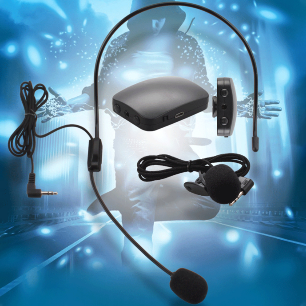 Lectures Tourist <font><b>Guide</b></font> Headset And Lapel Hands-free Multipurpose Long Cable Wireless Microphone <font><b>Car</b></font> Portable FM Transmitter image