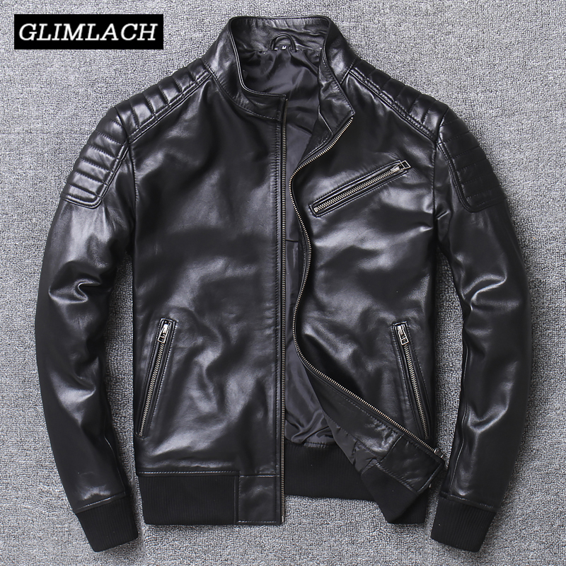 Men Pilot Sheepskin Real Leather Jacket Slim Short Aviation Motorcycle Genuine Leather Bomber Jacket Large Size 4XL Flight Coats