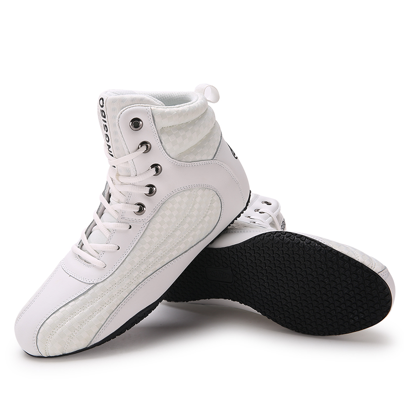 Soft Bottom Wrestling Shoes Professional Boxing Fighting Leather Sneakers Training Match Sports Boots
