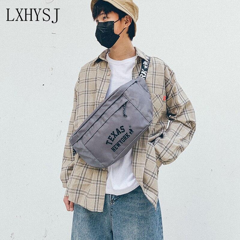 Streetwear Waist Bag Fanny Pack Large Capacity Unisex Crossbody Chest Bags Leisure Outdoor Hip-Hop Bag Trend Big Belt Pack