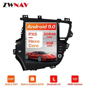 Styl Tesla Android 9.0 nawigacja samochodowa GPS samochód z nawigacją bez odtwarzacza DVD dla KIA Optima/KIA K5 2010-13 samochodowe stereo radioodtwarzacz samochodowy odtwarzacz multimedialny