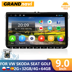 Автомагнитола GRANDnavi 2din на Android для Volkswagen VW Polo Jetta Skoda Octavia 2 Golf 5 7 Touran, мультимедийный плеер с GPS-навигацией