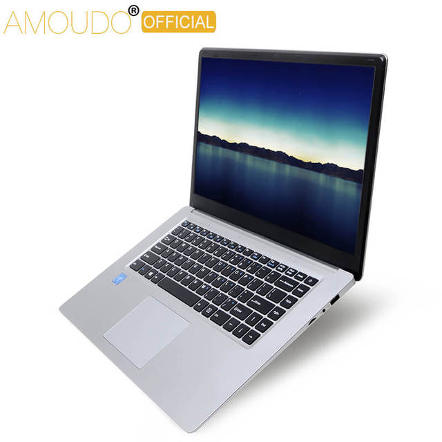 Amoudo 15.6inch 1920*108P IPS Screen Intel Quad Core CPU 4GB Ram 64GB Rom Win10 Laptop Notebook Computer