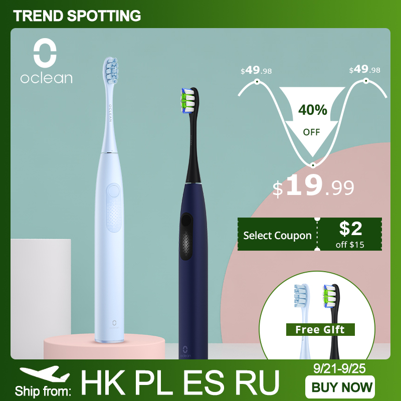Oclean F1 Sonic Electric Toothbrush IPX7 Waterproof 3 Modes Smart Tooth brush for Adult Ultrasonic Automatic Fast Charging