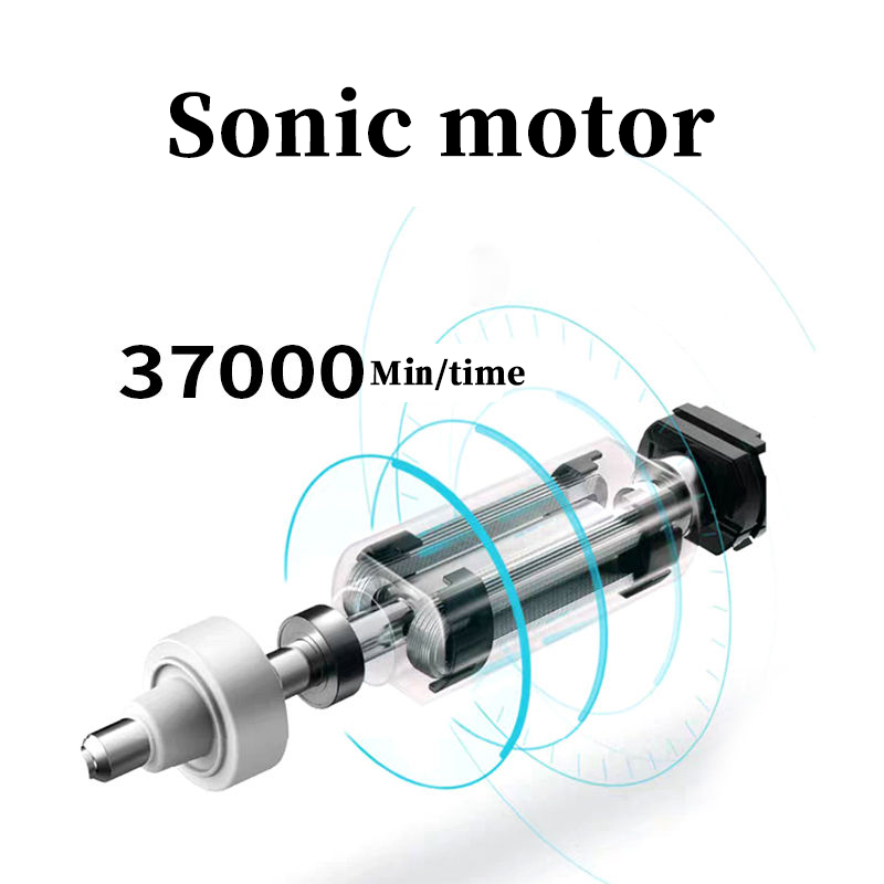 Sonic Electric Toothbrush Adult Timer Brush 5 Mode USB Charger Rechargeable Tooth Brushes Replacement Heads Set home gift