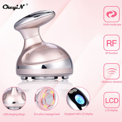 300,000 Times/s Ultrasonic Massager RF Cavitation LED Red light skin care Fat Burner Tightening Weight Loss Beauty USB charging