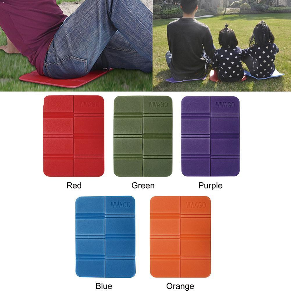 Picnic Seat Cushion Folding Foam Mat Waterproof Pad for Outdoor Camp Green