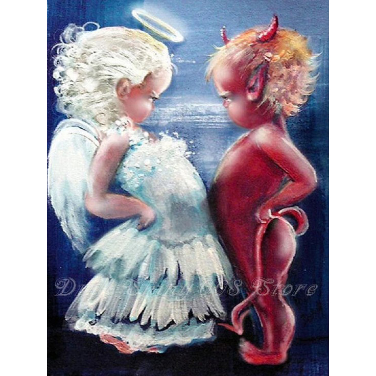 Full Drill Diamond Painting 5D Embroidery Cross Crafts Stitch Home Decor Angel
